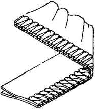 1-needls 3-threads, overedge (shirring)   *Pleats are made with differential feed
